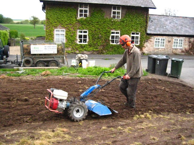 Rotovating_to_prepare_for_turf_laying_by_Eco_Garden_Maintenance